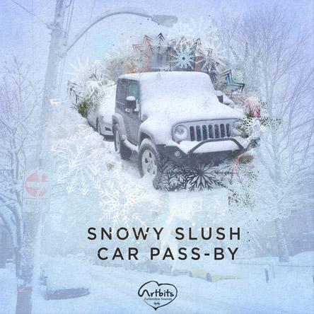 Artbits: Snowy Slush Car Pass-by